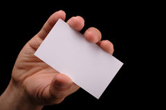 удерживание руки карточки Стоковые Фотографии RF