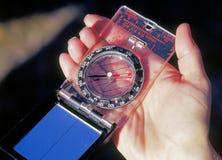 удерживание руки компаса Стоковое фото RF