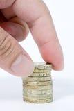 удерживание руки монеток Стоковые Фото