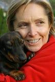 удерживание собаки Стоковые Фотографии RF