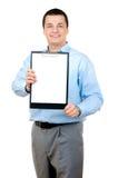 удерживание clipboard бизнесмена Стоковые Изображения
