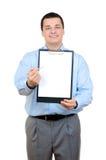 удерживание clipboard бизнесмена Стоковые Изображения RF