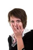 удивленная девушка 2 Стоковая Фотография
