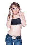 удивленная девушка стоковое изображение rf