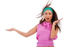 Удивленная молодая женщина Стоковое Изображение RF