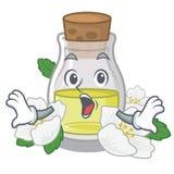 Удивленное масло жасмина в форме мультфильма бесплатная иллюстрация