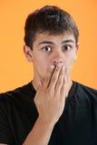 удивленное предназначенное для подростков стоковая фотография rf
