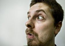 удивленное пугающее вспугнутое человеком Стоковая Фотография RF