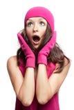удивленные детеныши женщины Стоковое фото RF