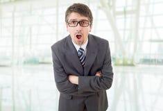 Удивленный бизнесмен стоковое изображение