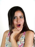удивленный портрет девушки выражения Стоковое фото RF