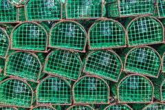 Удить ловушки для осьминогов и наяд Португалия стоковое изображение rf