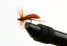 удить муху стоковое изображение rf