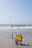 Удить на пляже Стоковое фото RF
