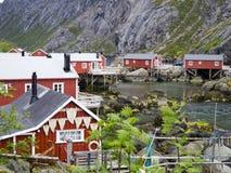 удить норвежское село Стоковое Фото