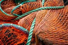 Удить сети и веревочку траулера стоковые изображения