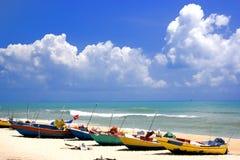 удить шлюпок пляжа Стоковое Изображение