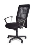 Удобный черный стул офиса Стоковая Фотография RF