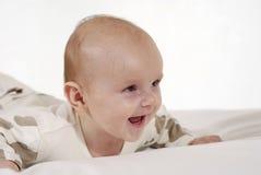 удовлетворяемый младенец стоковое изображение