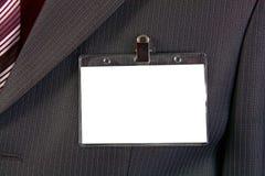 удостоверение личности карточки значка пустое Стоковые Изображения