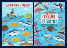 Удящ в море, морепродуктах человека fisher и вылове рыбы бесплатная иллюстрация