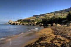 уединенный пляж Стоковое фото RF