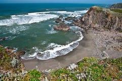 уединенный пляж Стоковое Фото