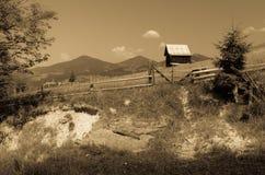 Уединённая дом в горах Стоковые Фото