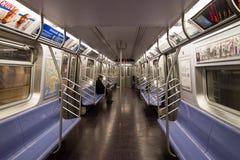 Уединённый всадник в подземке NYC Стоковая Фотография RF