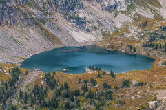 Уединение грандиозное Tetons озера Стоковая Фотография RF
