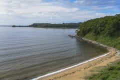 уединенный пляж Стоковые Фото
