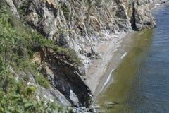 уединенный пляж Стоковая Фотография RF