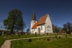 Уединённая церковь в Готланде, Швеции стоковая фотография