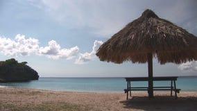 Уединённый пляж на Curacao сток-видео