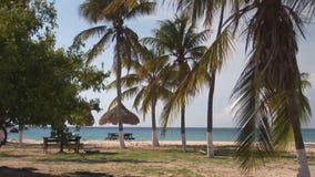 Уединённый пляж на Curacao акции видеоматериалы