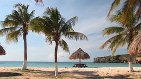 Уединённый пляж на Curacao видеоматериал