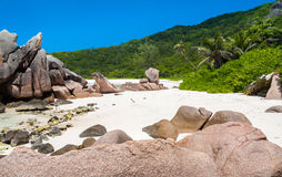 Уединённый пляж Cocos Anse Стоковые Изображения RF