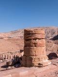 Уединённый штендер на Petra стоковое изображение
