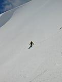уединённый snowboarder Стоковое Изображение RF