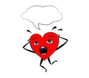 Ужаснутое сердце Стоковые Изображения