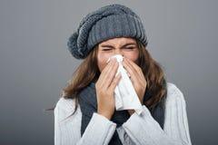 Ужасный грипп стоковое фото rf