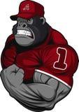 Ужасный спортсмен гориллы иллюстрация штока