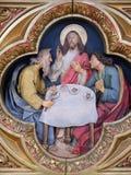 Ужин на Emmaus стоковое изображение rf