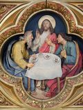 Ужин на Emmaus стоковое фото