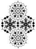 Узбекский национальный орнамент с цветением хлопка иллюстрация вектора
