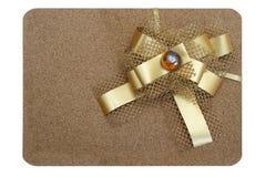 узел подарка коробки смычка Стоковые Фотографии RF