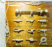 Узел и комплект веревочки петли Стоковые Фотографии RF