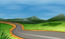 Узкая дорога бесплатная иллюстрация