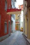 Узкая старая улица Германия Стоковая Фотография RF