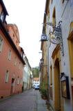 Узкая старая улица Германия Стоковое фото RF